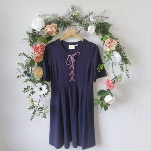 New Anthropologie Maeve Lace-up Dress